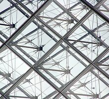 Louvre Glass Pyramid by DavePlatt