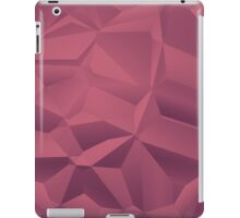 Red polygon background iPad Case/Skin