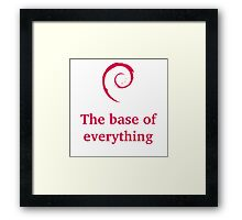 debian - the base of everything Framed Print