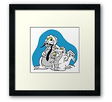 Rick the chick - Daddy croc Framed Print