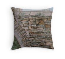 Old Ruin Throw Pillow