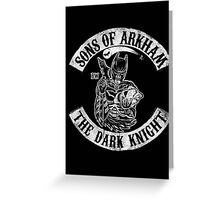 Sons Of Arkham The Dark Knight Greeting Card