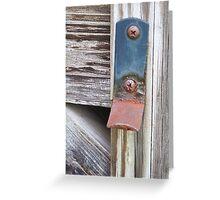 Rusty Gatekeeper Greeting Card