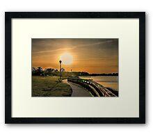 Sunshine Dock Framed Print