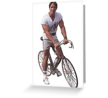 Arnold on a Bike Greeting Card