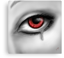 Red Eye Crying Canvas Print