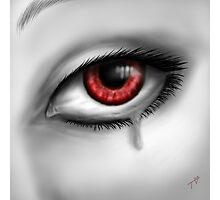 Red Eye Crying Photographic Print