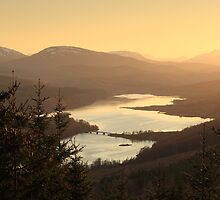 Loch Garry at Sunset by Maria Gaellman