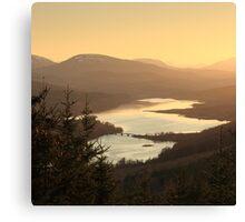 Loch Garry at Sunset Canvas Print