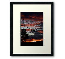Fire & Sky Framed Print