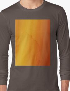 yellow watercolor texture Long Sleeve T-Shirt