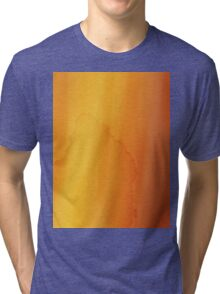 yellow watercolor texture Tri-blend T-Shirt