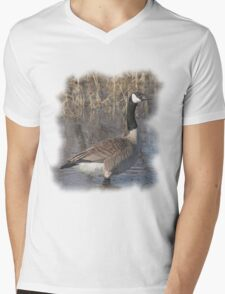 Canada Goose T-Shirt Mens V-Neck T-Shirt