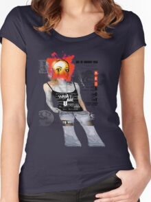 fashion is an illusion....... Women's Fitted Scoop T-Shirt