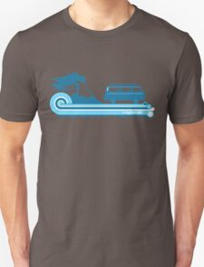 'Longboard' Surf Retro Design in Teal & Aqua T-Shirt