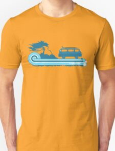 'Longboard' Surf Retro Design in Teal & Aqua T-Shirt