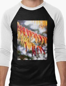 Trip-O-Vision Online Gallery Design 38: Fire Leaves Photography Men's Baseball ¾ T-Shirt