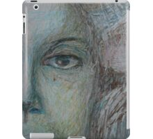 Faces - Right - Portrait In Black And White iPad Case/Skin