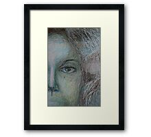 Faces - Right - Portrait In Black And White Framed Print