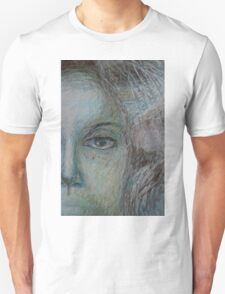 Faces - Right - Portrait In Black And White T-Shirt