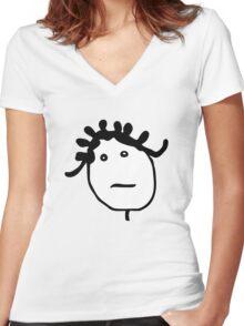 MUSIC : BADGALRIRI Women's Fitted V-Neck T-Shirt