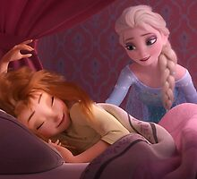 Elsa and Sleepy Anna by BethannieeJ