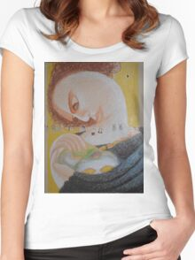 Band Aids - Abstract Portrait Of A Woman Women's Fitted Scoop T-Shirt