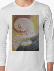 Band Aids - Abstract Portrait Of A Woman Long Sleeve T-Shirt
