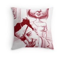 This writer's dilemma... Throw Pillow