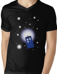 TARDIS In Space Mens V-Neck T-Shirt