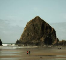 Haystack Rock, Cannon Beach Oregon by Kay Martin