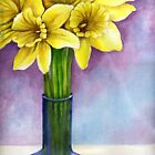 yellow flowers in a vase.*featured in group florals,watercolors and pastels!* by sneha