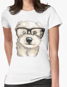 Nerd Dog  Womens Fitted T-Shirt