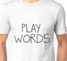 Play On Words (no white shapes in the letters) T-Shirt