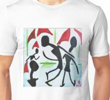 Walking in the rain Unisex T-Shirt