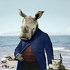 Mr. Rhino's Day at the Beach by PETER GROSS