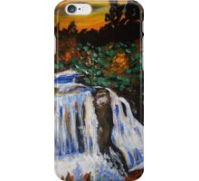 Trip-O-Vision Online Gallery Design 42: Autumn Waterfall Painting iPhone Case/Skin