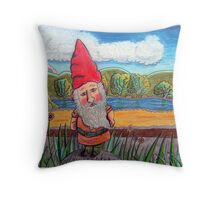 348 - THE GNOME - DAVE EDWARDS - COLOURED PENCILS - 2012 Throw Pillow