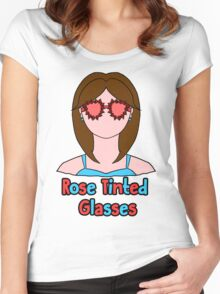 Rose Tinted Glasses Women's Fitted Scoop T-Shirt