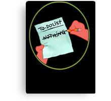 To Dolist - Nothing Canvas Print
