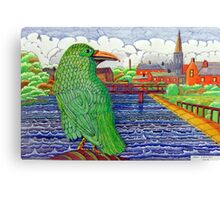 391 - THE GREEN RAVEN - DAVE EDWARDS - FINELINERS - 2013 Canvas Print