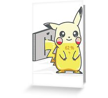 Pikachu is Charging Greeting Card