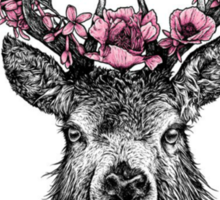 Stag with Blossom Sticker