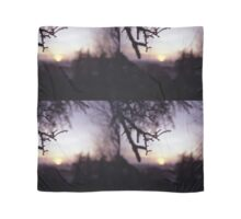 Tree branch in silhouette against sunset dusk evening sky square medium format film analog photographers Scarf