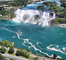 Niagara Fall from the air part 2 us fall by terrebo