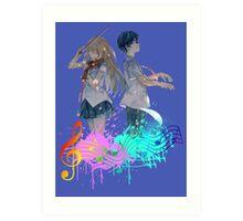 Shigatsu wa kimi no uso Art Print