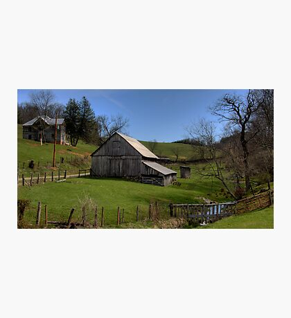 Barn by the Stream Photographic Print
