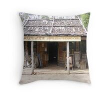 Porcupine village general store Throw Pillow
