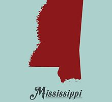 Mississippi - States of the Union by Michael Bowman