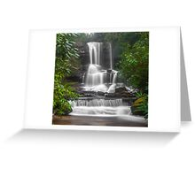 Waterfall Through the Trees Greeting Card